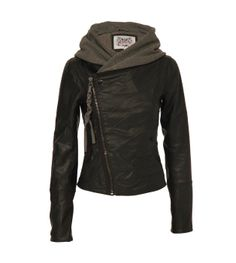 Ladies Womens Firetrap Force Leather Look Jacket With Hood: Amazon.co.uk: Clothing