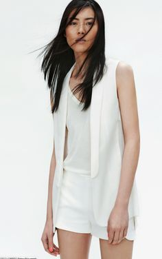White dress shorts+a white waist coat= Perfect for the summer!