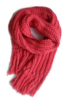 Pink wool knit chunky fringed Long Scarf Women accessories Knitting scarves unisex scarves Gift for her Knitting Scarves, Hand Knitting, Pink Scarves, Long Scarf, Coral Color, Womens Scarves, Simple Designs, Knit Crochet, Gifts For Her