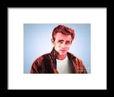 James Dean 20160415 Framed Print by Wingsdomain Art and Photography  wingsdomain james dean james dean elvis presley marilyn monroe rock rock and roll entertainer entertainers entertainment hollywood actor actors movie movies movie star artist artists idol