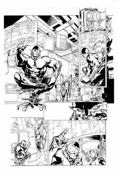 Immonen Make A Comic Book, Comic Book Pages, Comic Book Artists, Comic Artist, Comic Books Art, Stuart Immonen, Comic Frame, Comic Layout, Comic Drawing