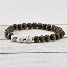 Our beautiful Graywood + Howlite Bracelet 😍💚💜🌸Howlite can be used for mantra practice and meditation, encouraging the flow of creative ideas and goals. It is a powerful aid for insomnia. Positive Outlook On Life, Meditation, Encouragement, Bracelets, Silver, Beautiful, Jewelry, Beads, Insomnia