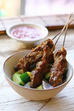 Beef Satay with Spicy Peanut Sauce   Easy Asian Recipes at RasaMalaysia.com
