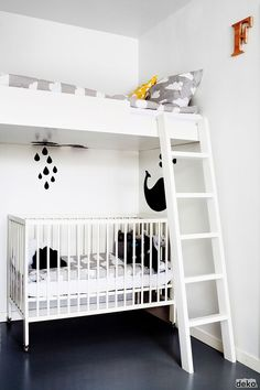 loft bed with crib underneath! this is what we have to do!