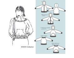Kapuzenshirt, Kapuzenjacke und Shirt mit Raglanärmeln (5024), 5 Varianten, Größe 34-46