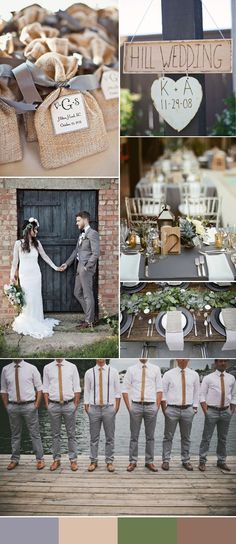 rustic grey and light brown wedding ideas