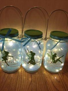 tinkerbell toys - 4 Stars & Up: Toys & Games Mason Jars, Mason Jar Crafts, Deco Pirate, Pirate Theme, Fairy Lanterns, Paper Lanterns, Fairy Birthday Party, Garden Birthday, Fairy Jars
