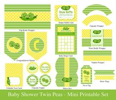 TWINS BABY SHOWER // Printable Mini Set // by SugarPickleParty