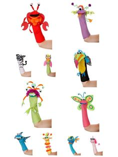 DARICE SP Series SOCK FRIENDS PUPPETS KIT. All in one handy place.