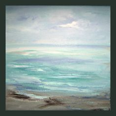 Orignal Ocean Beach Baby Blue  Abstract  Seascape by sherischart,  SEA ME ~  the deepest sea of reflections. http://www.etsy.com/shop/sherischart Custom orders.