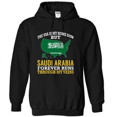 The USA is My Home Now But Saudi Arabia Forever Runs Th - #tshirt packaging #turtleneck sweater. FASTER => https://www.sunfrog.com/States/The-USA-is-My-Home-Now-But-Saudi-Arabia-Forever-Runs-Through-My-Veins-arqzertwem-Black-Hoodie.html?68278