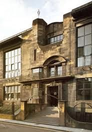 Main entrance, Glasgow School of Art Design: Charles Rennie Mackintosh Glasgow Architecture, Historical Architecture, Places In Scotland, Charles Rennie Mackintosh, Glasgow School Of Art, Main Entrance, William Morris, Mansions, House Styles