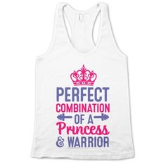 Perfect Combination of a Princess & Warrior, another cheer shirt must have!!