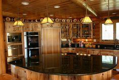 log cabin kitchens | Log Cabin Kitchen