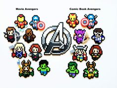 The Avenger Perler Sprites Avengers Tree by ShowMeYourBits
