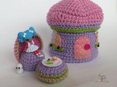 DIY Crochet Jewelry Box/Doll House