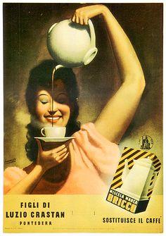 1940  Gino BOCCASILE _ Blend Bricco brand subsitutes the coffee - Figli di Luzio Crastan
