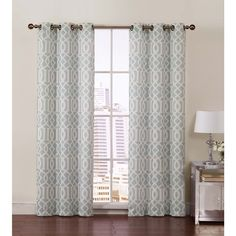 Victoria Classics Aaron Room Grommet Top 84-inch Curtain Panel Pair - Overstock™ Shopping - Great Deals on Victoria Classics Curtains