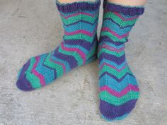 Knitted Finished Object: Jaywalkers