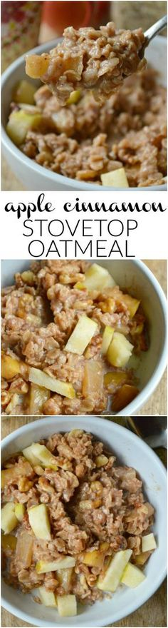 If you love the flavors of apple pie, this easy Apple Cinnamon Stovetop Oatmeal Recipe is for you!