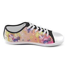 Usagi Pattern Women's Canvas Shoes (Model 016)