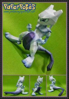 Pokemon - Mewtwo Free Papercraft Download