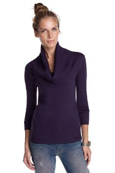 For work. Viscose-blend polo neck CASUAL - Esprit. 506410dcff