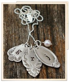 eclectic spoon charm necklace