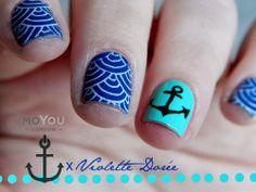 Violette dorée #nail #nails #nailart