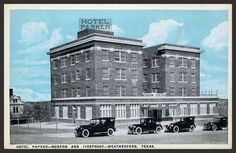 Parker Hotel, Weatherford Texas. Old Pictures, Old Photos, Parker Hotel, Weatherford Texas, Vintage Architecture, Lest We Forget, Home And Away, New Hampshire, Vermont