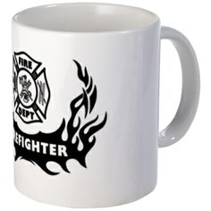 Fire Dept Firefighter Tattoos Mug