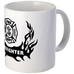 Fire Dept Firefighter Tattoos Mug