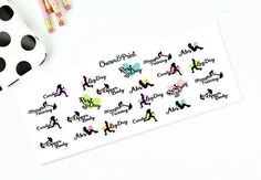 Workout Stickers // Planner Stickers // Mixed Set by CharmandPrint