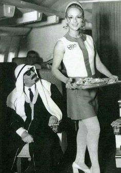 Olympic Airways Aliki Vougiouklaki wearing a uniform by Pierre Gardin as Olympic staff for a moovie Olympic Airlines, Aristotle Onassis, Airline Uniforms, 60s And 70s Fashion, Cabin Crew, Flight Attendant, Athens, Travel Style, Vintage Photos
