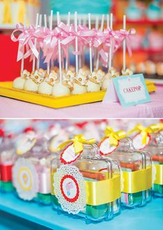 Girly Big Top Circus First Birthday Party