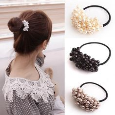 1pc Fashion Handmade Knotted Pearl Elastic Rubber Bands Headwear Women Girl Ponytail Holder Gum Scrunchy New Hair Accessories Reliable Performance Apparel Accessories