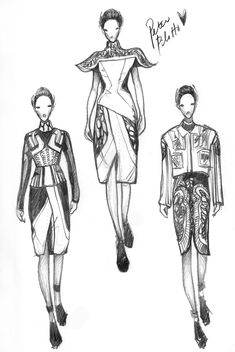 Fashion Drawings Vikki Yau Fashion Illustration - Fashionary Sketches - We share our obsession about fashion illustrations to the world. We feature inspiring fashion illustrators; demonstrate fashion drawing tips and share sketching resources Fashion Illustration Sketches, Fashion Sketchbook, Fashion Design Sketches, Fashion Drawings, Fashion Sketch Template, Fashion Design Template, World Of Fashion, Fashion Art, Love Fashion