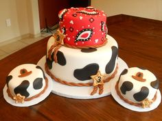 Country-western cake and smash cakes