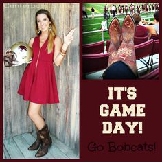 Game Day Boots! Go Bobcats! @Caitlin Wilkerson, you made the Alumni Association's pinterest!