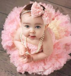 Cutie baby lovely tutu pink tulles @Kelly Teske Goldsworthy Barnett pic idea for Sweet P!!
