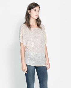 ZARA - WOMAN - BLOUSE WITH EMBROIDERED FRONT