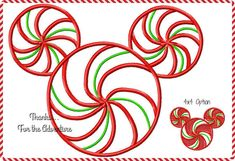 Christmas Peppermint Swirl Mickey Mouse Mouse Digital