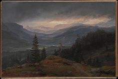 View over Hallingdal Johan Christian Dahl  Date: 1844