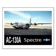 C-130 SPECTRE GUNSHIP Small Poster> C-130 SPECTRE Spooky GUNSHIP> Zoom Wear #Posters #Aircraft