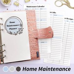 "Photo by Planify Pro, Planner Tool on December 13, 2020. ในภาพอาจจะมี ข้อความพูดว่า ""Maintenance Calendar JANUARY FER p MARCH ice Jobs QUARTERLY JUNE Home Maintenance Planner ce Receipts DATE COST DECEMBER พ8310W Home Maintenance"".  #Regram via @CIv_CxEpTW8 Printable Letters, Printable Labels, Printable Planner, Free Printables, Planner Layout, Planner Organization, Planners, Diy, Bricolage"