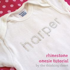 Rhinestone Onesie Tutorial: Part 2