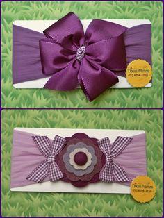 Faixas Ribbon Hair Bows, Diy Hair Bows, Diy Headband, Baby Headbands, Fabric Flowers, Paper Flowers, Christmas Gift Bags, Ribbon Sculpture, Diy Hair Accessories