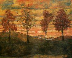 Egon Schiele, Four Trees