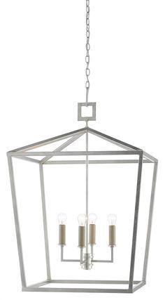 """Victorian Trading Co White 25/"""" Finial Filigree Lantern Iron 37A"""