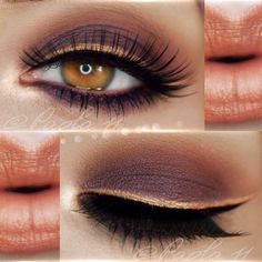 Orange based make up